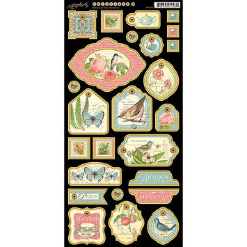 Graphic Botanical Tea Chipboard Die-Cuts 6