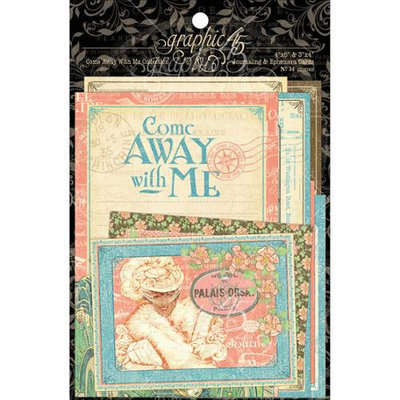 Graphic 45 Come Away With Me Journaling & Ephemera Cards-4