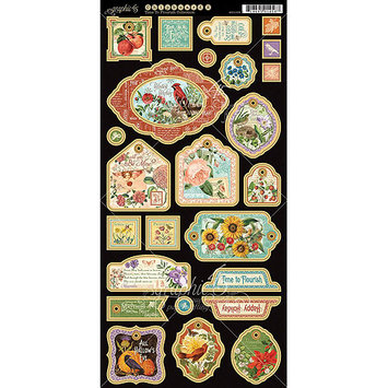 Graphic 45 Time To Flourish Chipboard Die-Cuts 6