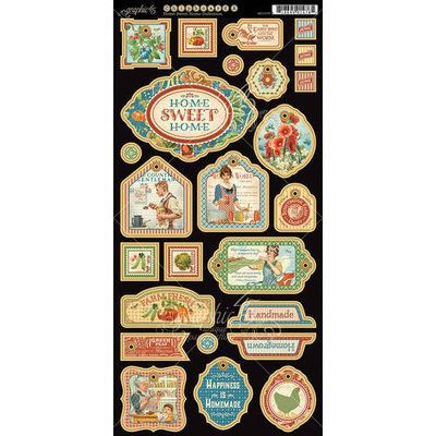 Graphic 45 Home Sweet Home Chipboard Die-Cuts 6
