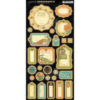 Graphic 45 Artisan Style Chipboard Die-Cuts 6