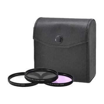 Xit Group XT58FLK 58mm Pro Series HD (UV, CPL, FL-D) Digital Filter Set w/ Case