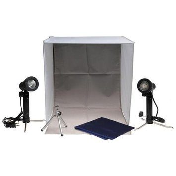 Xit Portable Light Box Photo Studio with 2 Backgrounds, 2 Lights, Tripod & Carrying Case