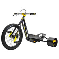 Bike Rassine HK-JR-WH Hillkicker Big Wheel Tricycle For Kids, 8 Year And Older - White
