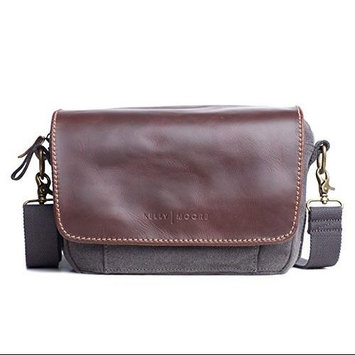 Kelly Moore Followell Shoulder Style Camera Bag, Gray Canvas/Brown Trim
