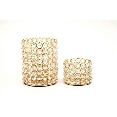 Horizon Interseas Inc H-1044 CRYSTAL BEADED TEALIGHT SETS