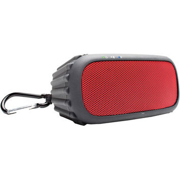 Ecoxgear Ecorox Ipx7 Waterproof Bluetooth Portable Audio System System, Red