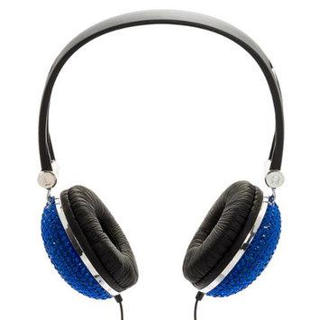 Crystal Case Blue Crystal Rhinestone Bling Dj Over-ear Headphones
