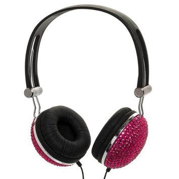 Crystal Case Light Pink Crystal Rhinestone Bling Dj Over-ear Headphones