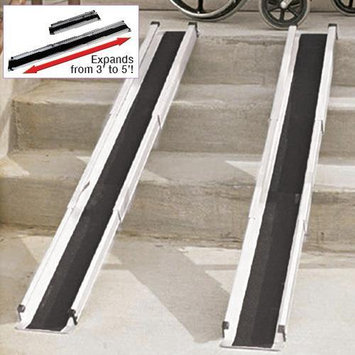 Rose Health Care 5' Telescoping Heavy Duty Wheel Chair Ramp Set