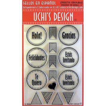 Uchi's Design UCHIS DESIGN A212 Uchis Design En Espanol Clear Stamp Set 4 in. X6 in. Sheet-Etiquetas Circulares - Circle Tags