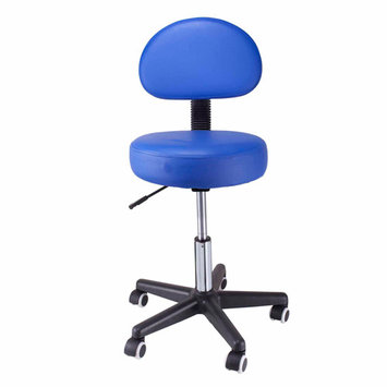 Sivan Health & Fitness Sivan Health and Fitness Pneumatic Rolling Back Rest Stool, Blue