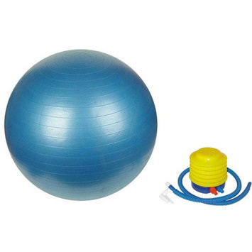 Sivan Health & Fitness 75cm Blue Yoga Stability Ball and Pump Bundle