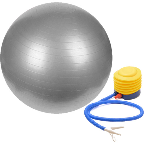 Sivan Health & Fitness 75cm Grey Yoga Stability Ball and Pump Bundle