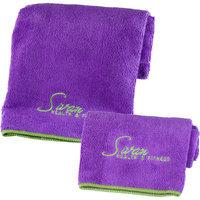 Ggi International Yoga Towel and Hand Towel 2 Piece Set Color: Purple