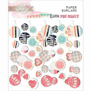 Glitz Design Love You Madly Paper Garland, 24