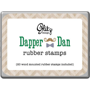 Glitz Design ST0786 Dapper Dan Rubber Stamps Tin