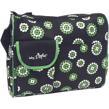 BABY ZIGGLES 91843Trendy Firework Print Design Diaper Bag, Black/Green Multi-color
