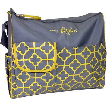 BABY ZIGGLES 91883 Trendy Royal Print Design Diaper Bag, Gray/Yellow Multi-color