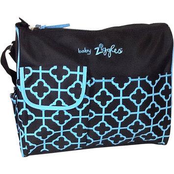 BABY ZIGGLES 91893 Trendy Royal Print Design Diaper Bag, Black/Blue Multi-color