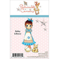 Little Darlings Saturated Canary Unmounted Rubber Stamp 4.5