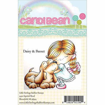 Little Darlings Candibean Unmounted Rubber Stamp - Penny's Pully Wagon