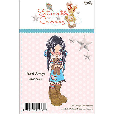Little Darlings LD5069 Saturated Canary Unmounted Rubber Stamp 4 in. x1.5 in. -Theres Always Tomorrow