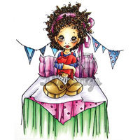 Little Darlings Saturated Canary Cling Mounted Rubber Stamp 4