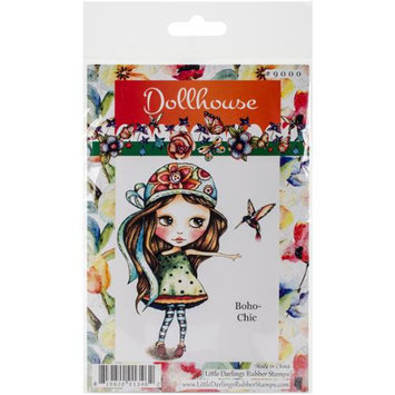 Little Darlings Dollhouse Cling Mounted Rubber Stamp 3.8