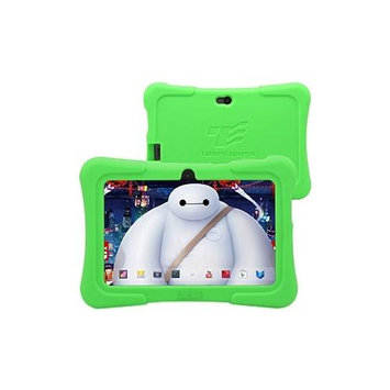 Tabletexpress Dragon Touch 7 Quad Core Android Kids Tablet (2015 New Model, Y88X with Green Silicone Case)