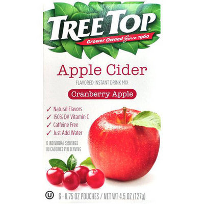 Tree Top Cranberry Apple Cider Instant Drink Mix, 0.75 oz, 6 count