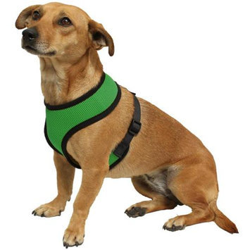 OxGord Pet Control Harness for Dog & Cat Easy Soft Walking Collar - Vehicle Safety Strap Vest - Small Hunter Green