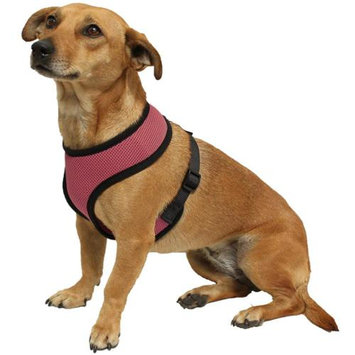 OxGord Pet Control Harness for Dog & Cat Easy Soft Walking Collar - Vehicle Safety Strap Vest - Small Pink