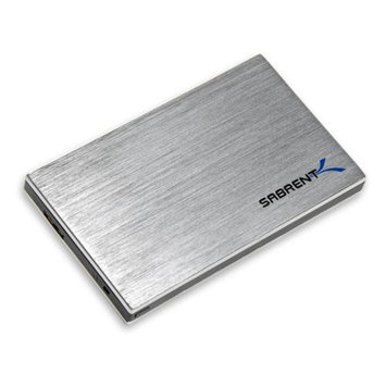 Sabrent EC-SS25 Drive Enclosure External - Silver, Black