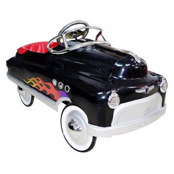 Airflow Collectibles Black Hot Rod Comet Car Pedal Riding Toy