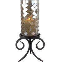 Stonebriar Collection Olive Mosaic Candleholder
