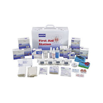 North Safety 068-019720-0009L 100 Person First Aid Kitfilled 15X11X5 Inch