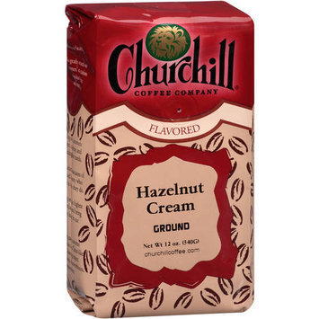 Churchill Coffee Company Hazelnut Cream Ground Coffee, 12 oz