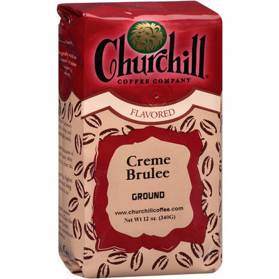 Churchill Coffee Company Creme Brulee Cream Ground Coffee, 12 oz