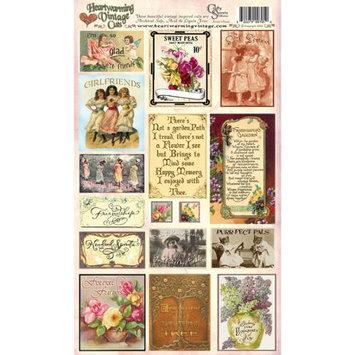Crafty Secrets CSHVC-5 Heartwarming Vintage Cuts 7 x 12 Inch Sheet