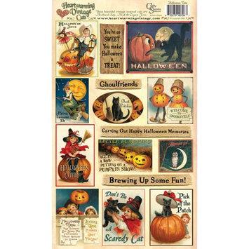 Crafty Secrets CSHVC-6 Heartwarming Vintage Cuts 7 x 12 Inch Sheet