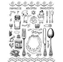 Crafty Secrets Clear Art Stamp Large 8