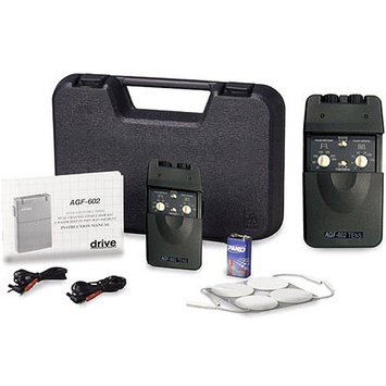 Drive Medical Dual Channel TENS Unit with Timer and NonRechargeable Battery, 1 ea