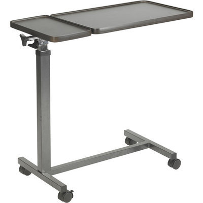 Drive Medical Multi-Purpose Tilt-Top Split Overbed Table with Tray
