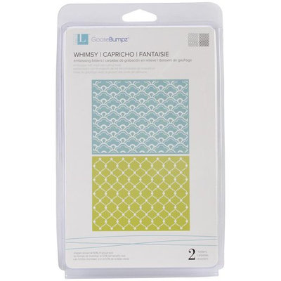 We R Memory Keepers LEF-003 Goosebumps A2 Embossing Folders 2-Pkg-Classic