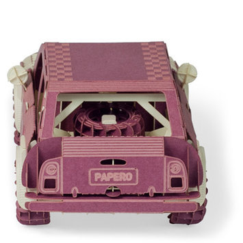 Papero Violet Mini Rally Car Assemblage Kit
