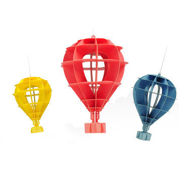 Papero Mini Hot Air Balloon Assemblage Kit, Pink/Yellow/Blue