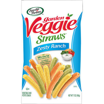 Sensible Portions Straw Veggie Ranch 7 Oz Pack Of 12