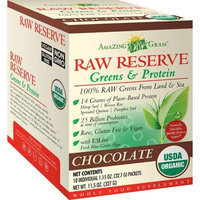 Amazing Grass Raw Reserve Greens & Protein Chocolate - 10 Individual Packets - Vegan