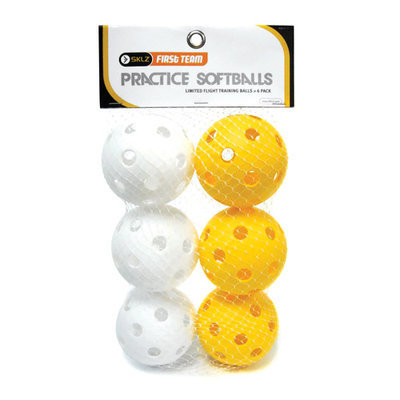 SKLZ First Team Practice Softballs (6 Pack)